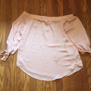 NWT Apt 9 Light Pink Off the Shoulder Shirt